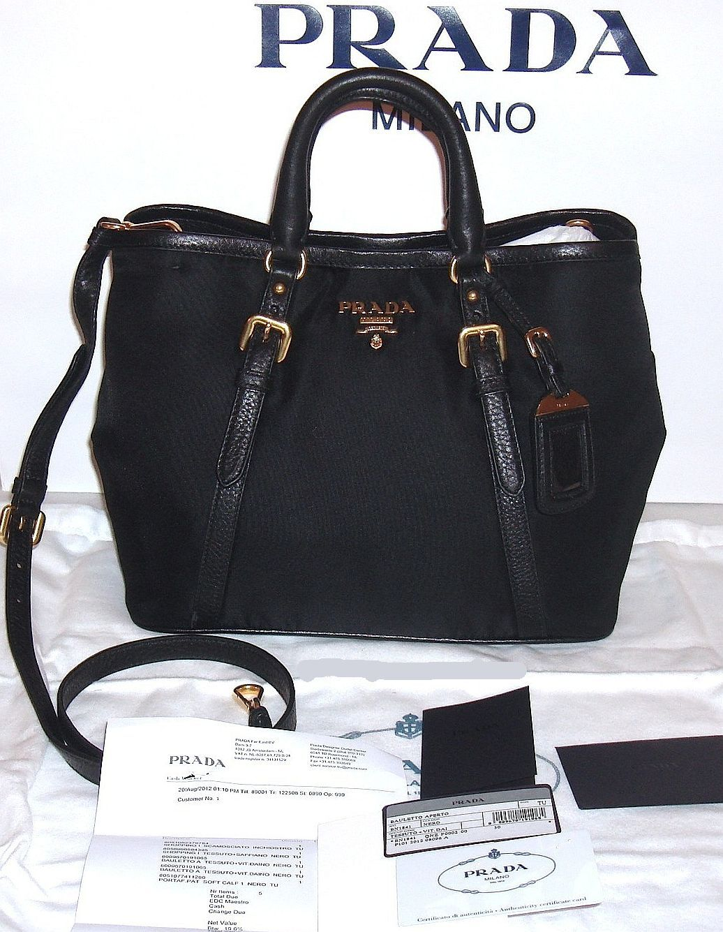 727aa34a44d9 Prada Handbag (Bauletto Aperto Tote Bag with Strap