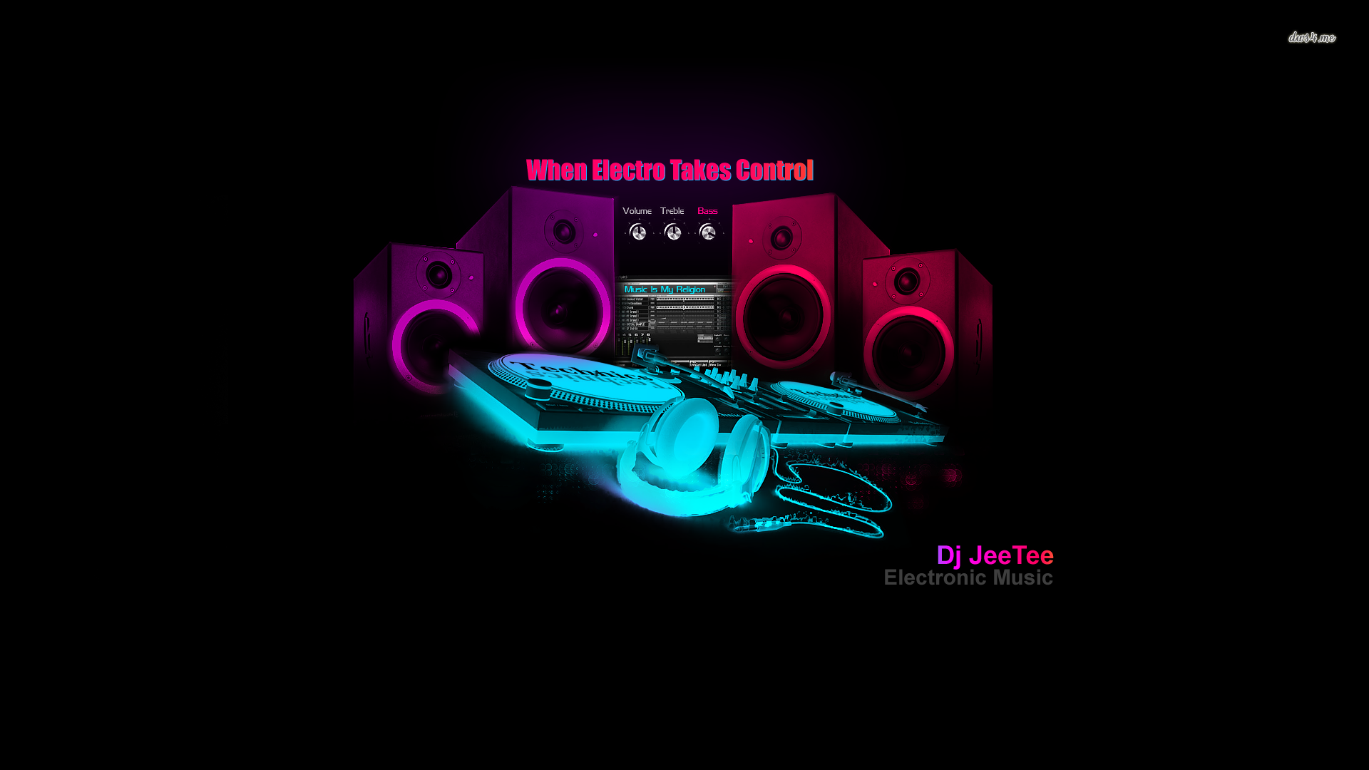 Dj Speakers Wallpaper Music Wallpaper House Music Dj Music Notes Background
