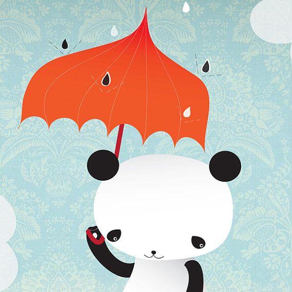 Panda Wall Deco Kawaii You are my sunshine by pescerosso on Etsy, $25.00