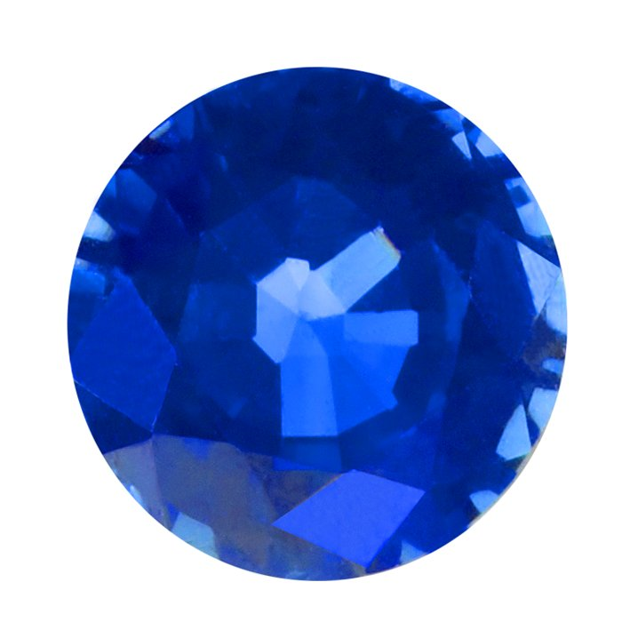 Round 2mm Blue Sapphire Faceted Stone, AA-Grade-Sapphire gets its blue color from titanium and iron oxides; the depth of color depends on the amount of oxides in the stone.