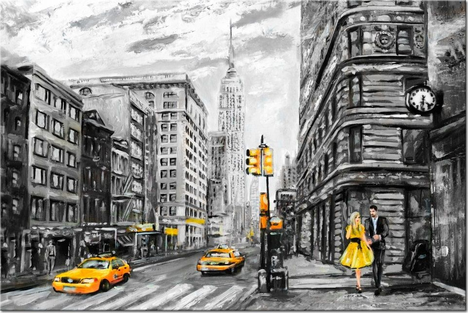 walk in new york wandbilder und fototapeten big city life pinterest wandbilder aquarell. Black Bedroom Furniture Sets. Home Design Ideas