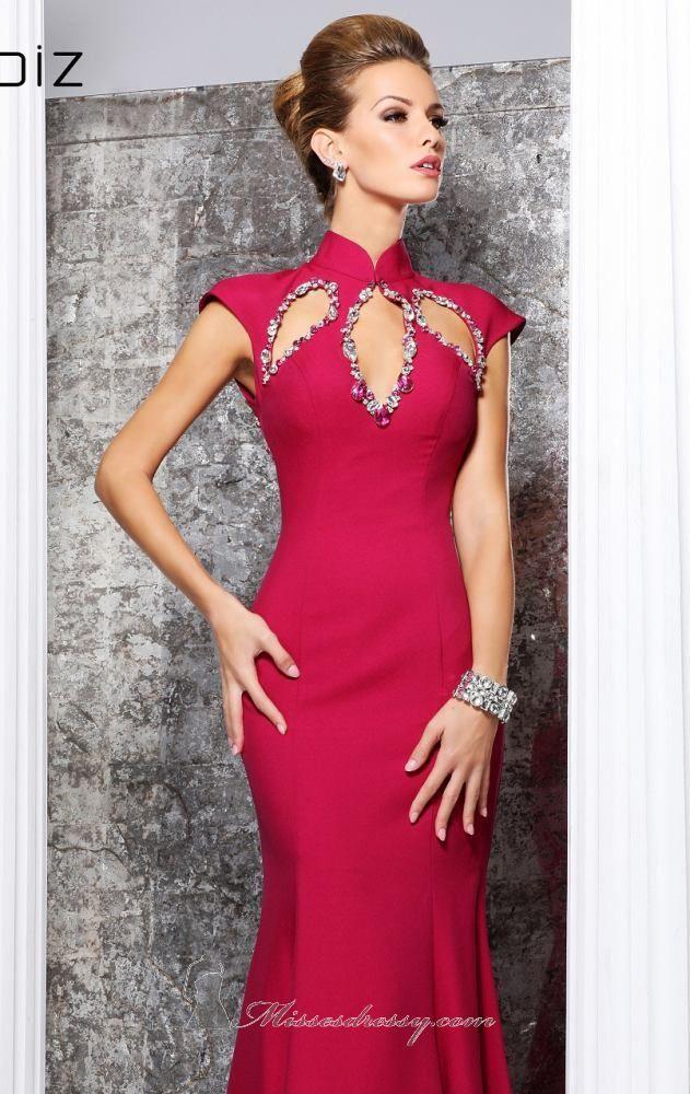 Cutaway Jeweled Gown by Tarik Ediz Item #92107 by Tarik Ediz  $730.00