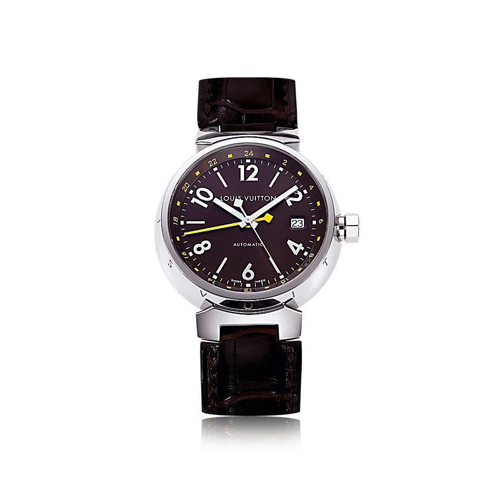タンブール オトマティック GMT ブラウン (クラシック・ベルト) - ウォッチ ルイ・ヴィトン公式サイト