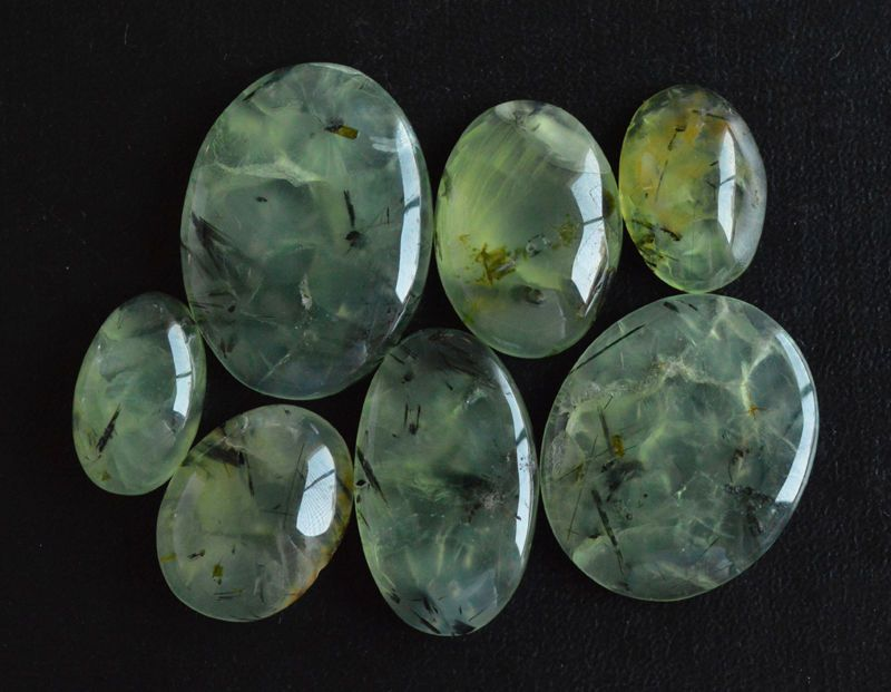listing rare natural cabochon on etsy gemszam tourmalinated gemstone cts il from loose stone studio prehnite