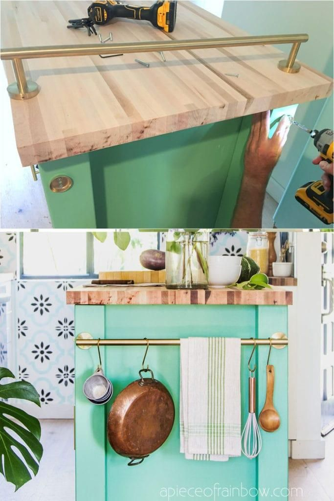 farmhouse diy kitchen island an ikea hack decor kitchen farmhouse island lyricsfriday on kitchen island ideas diy ikea hacks id=40640