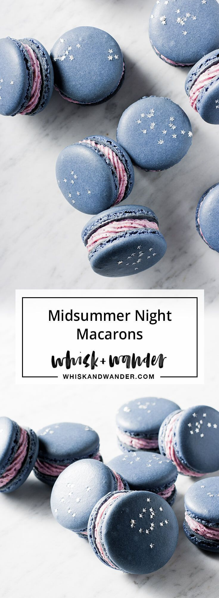 Blueberry Macarons — whisk + wander
