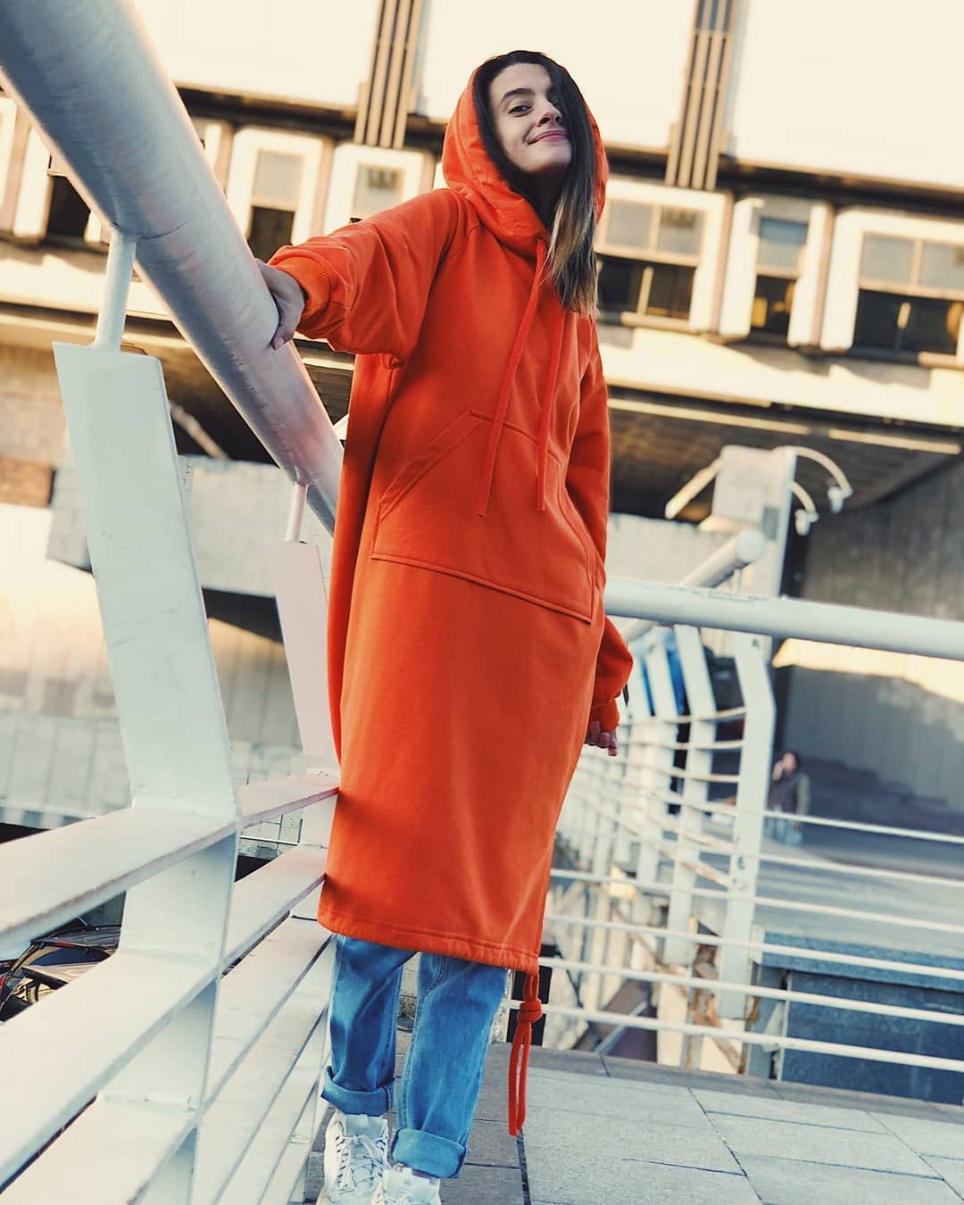 7b24a8cb74f08 Оранжевое платье худи - 1750 грн Dress hoodie - $ 105 #хочусебетакое  #хочусебетакое #