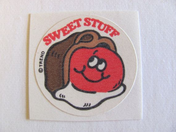 HOT DOG Vintage TREND Matte Scratch and Sniff Stinky Stickers