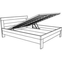 Doppelbett / Gästebett Kiefer massiv Vollholz weiß 77, inkl. Lattenrost – 180 x 200 cm (B x L) Stein - https://hangiulkeninmali.com/dekor #vaseideen