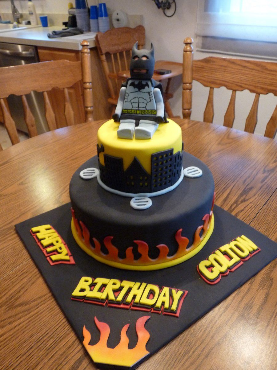 Lego Batman Birthday Cake I made this cake for my nephews 9th