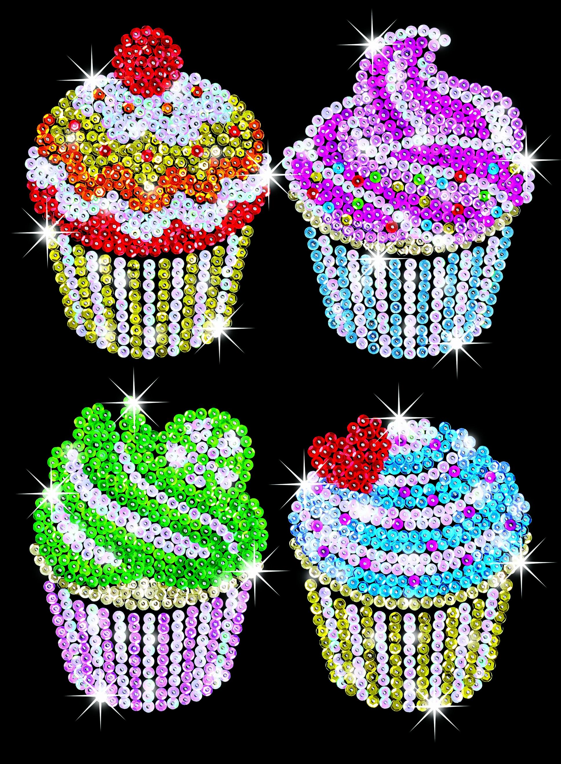 Arts and craft kits - Sequin Art Craft Kit Cupcakes 1130 Hobbies
