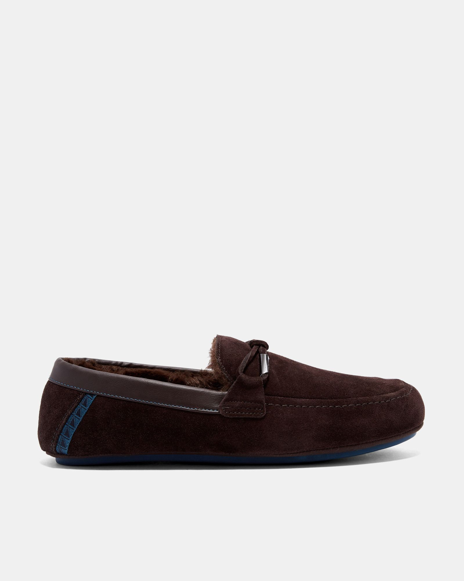 08bb40f72adad6 Suede Moccasin Slippers