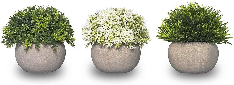 Mini Artificial Plants Home Decor Set Of 3 Small Fake Plant Decor 1000 In 2020 Fake Plants Decor Small Fake Plants Fake Plants