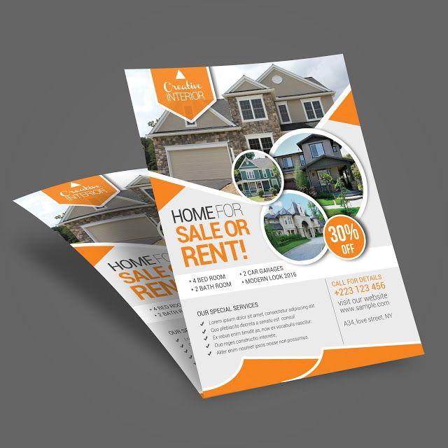 Real Estate Free Flyer Template Design Print Design Market Flyer