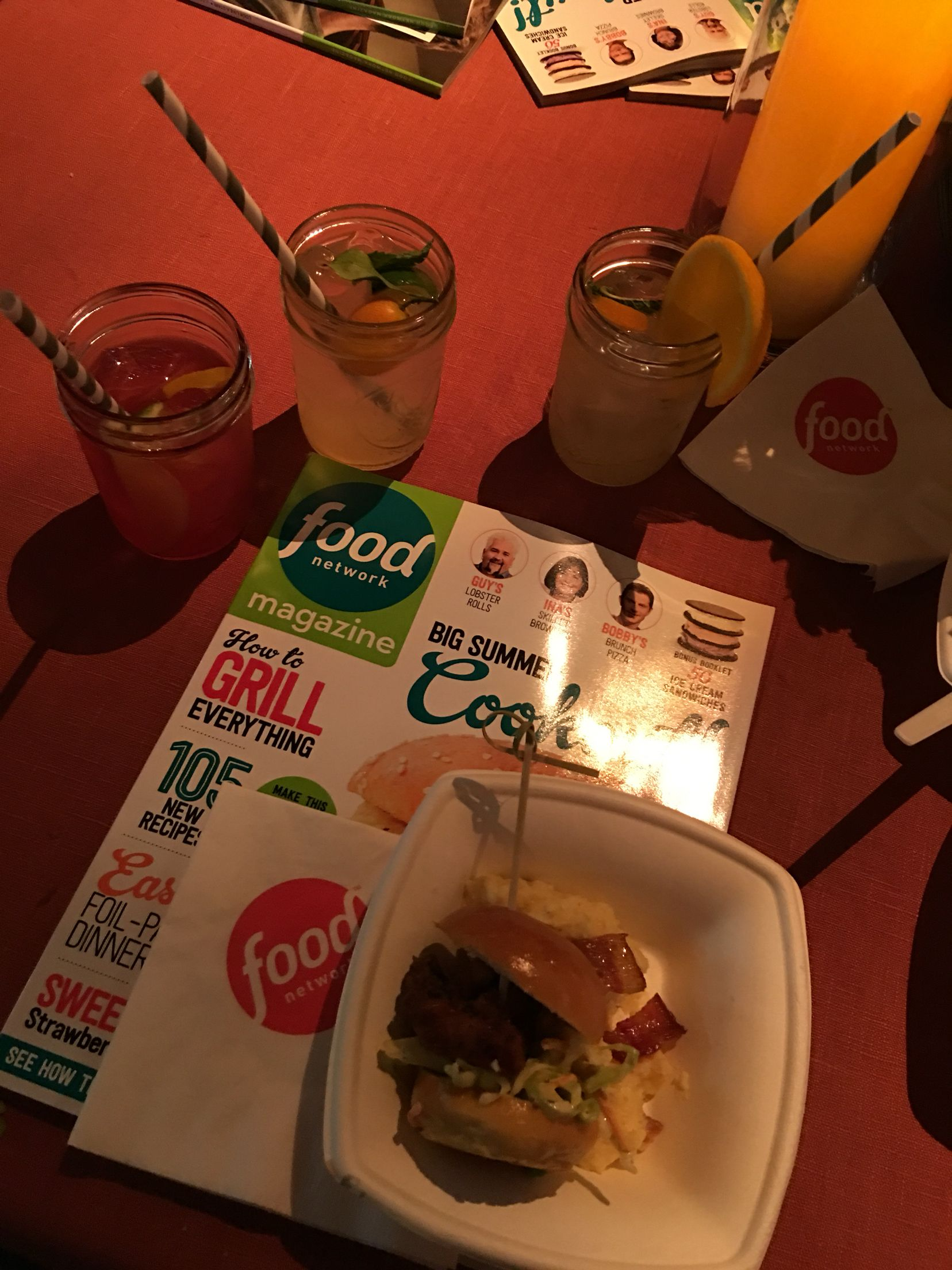 Delicious mocktails at food network diners drive ins and dives event