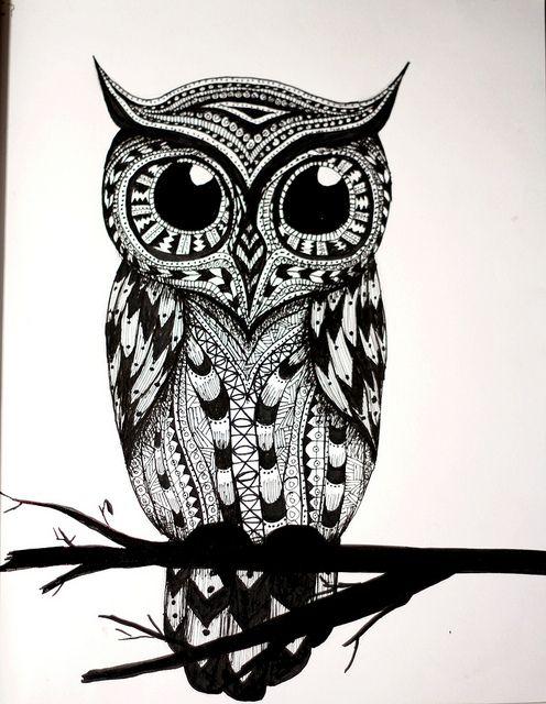 Dibujo Buho Tattoo