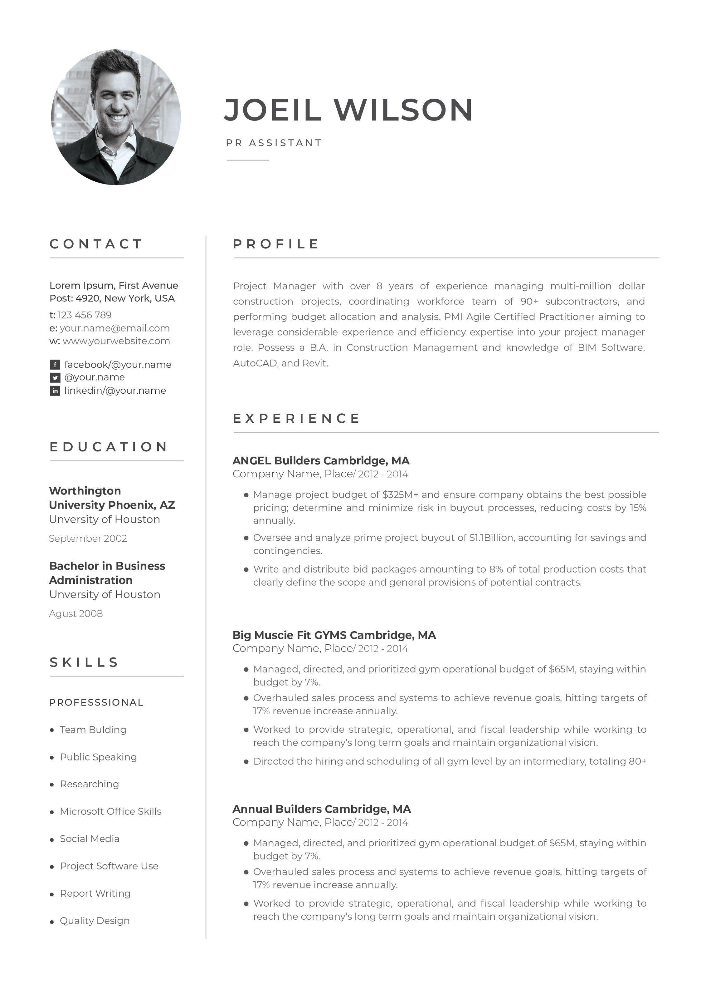 Word Resume Resume cover letter template, Cover letter