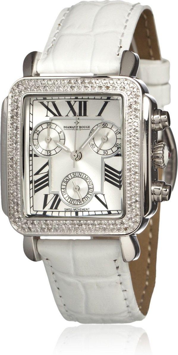 Diamant Rouge Women's WA000595 Vendome White Watch at ❀❀ MyHabit ❀❀ http://fashion.com-toprecommendationsfrom.us/the-boyfriend-watch/