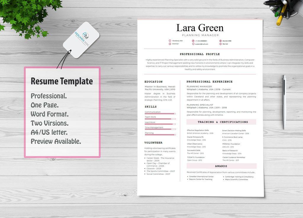 Consilio Professional Resume Template Resume template