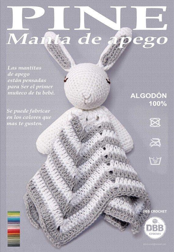 Manta de apego dbb crochet artesanio dbb crochet - Manta de bebe a ganchillo ...
