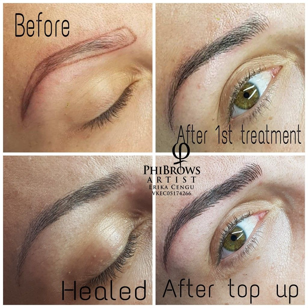 Step By Step Microblading Process Derby Cosmetic Art Hair And Beauty Salon Microblading