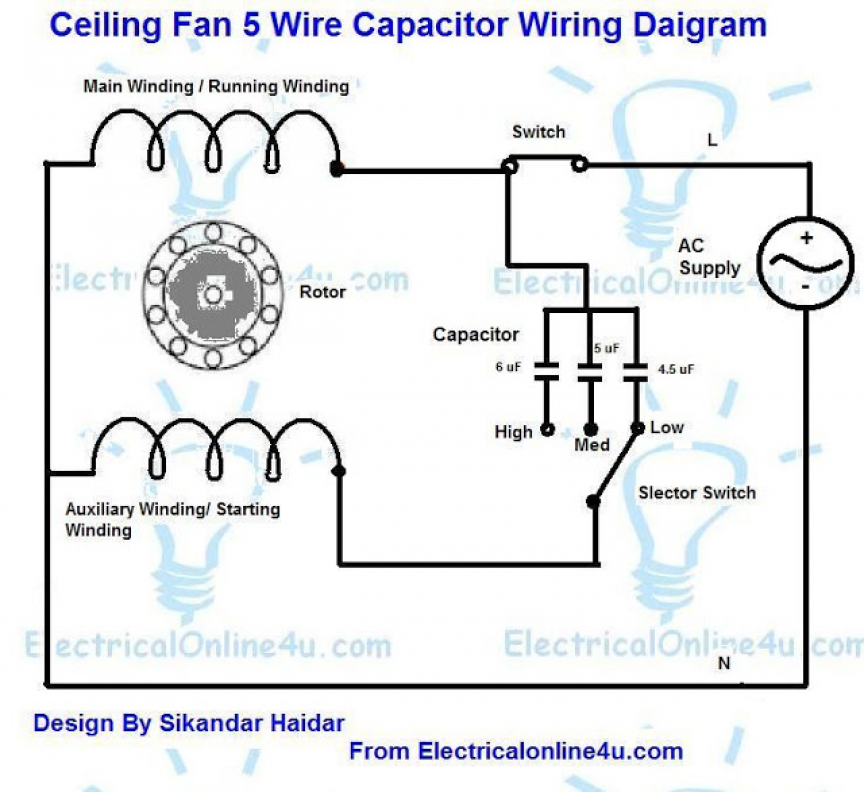 Capacitor Ceiling Fan Wiring Diagram on Ceiling Fan Wiring Diagram ...