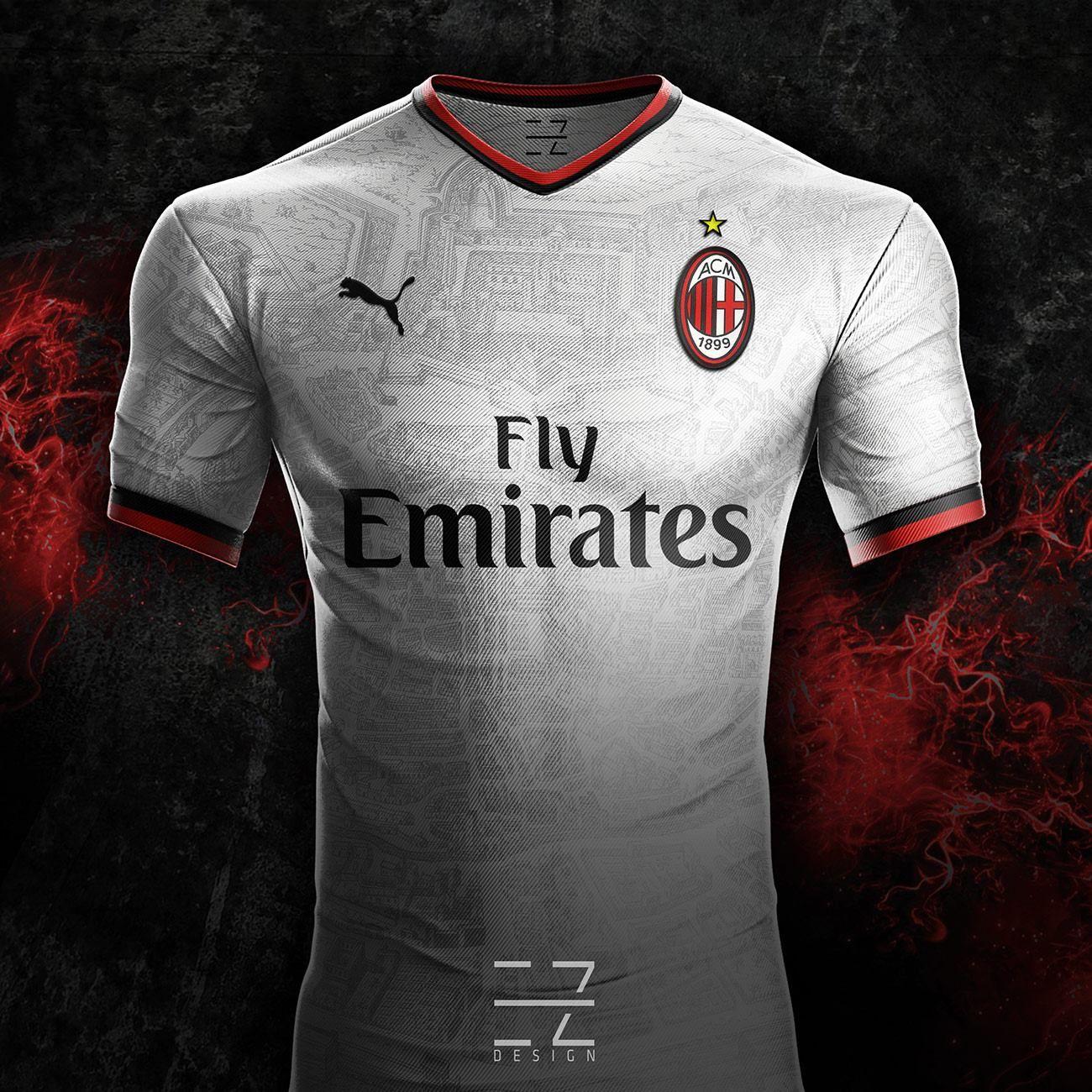 b5d22f60b Puma Camiseta Futbol AC Milan Segunda 2018-2019