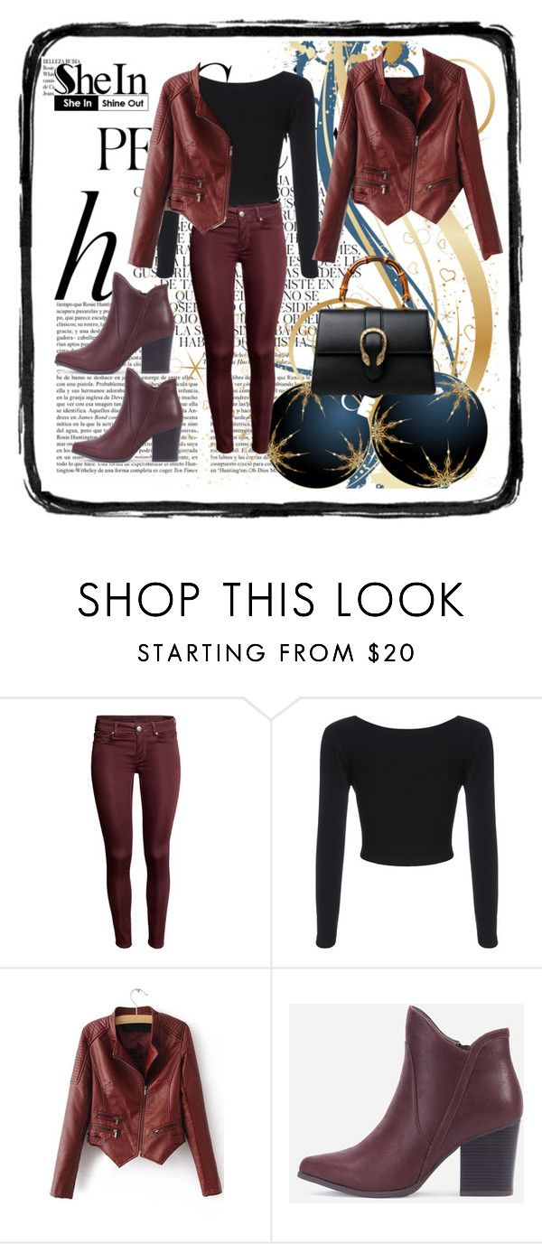 """""""Shin 9"""" by dinka1-749 ❤ liked on Polyvore featuring Whiteley, WithChic and Gucci"""