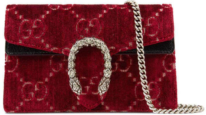 409f567a8da8 Dionysus GG velvet super mini bag | Statement Pieces | Prada purses ...