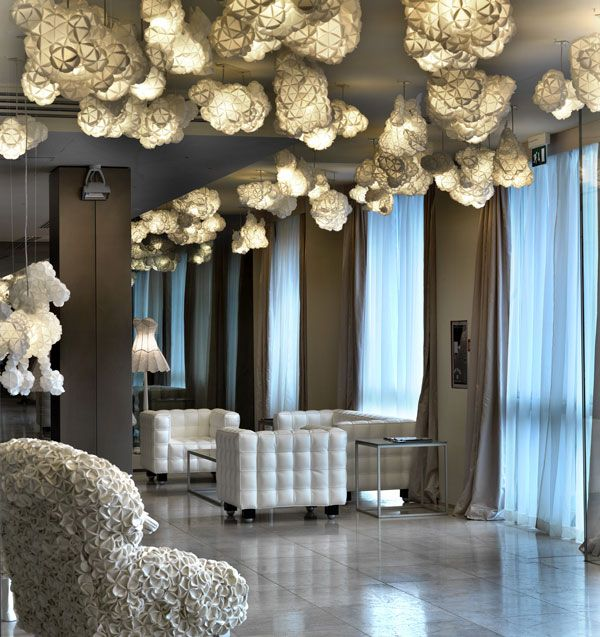 Nice LOBBY AT HOTEL MAISON MOSCHINO Donu0027t You Love The Quirky Cloud Like Light  Fixtures Home Design Ideas