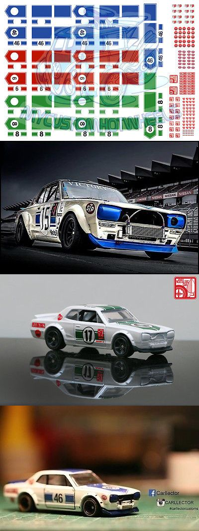 Hot Wheels Hakosuka PackWaterslide Decals in all scales from 1//64 up to 1//18
