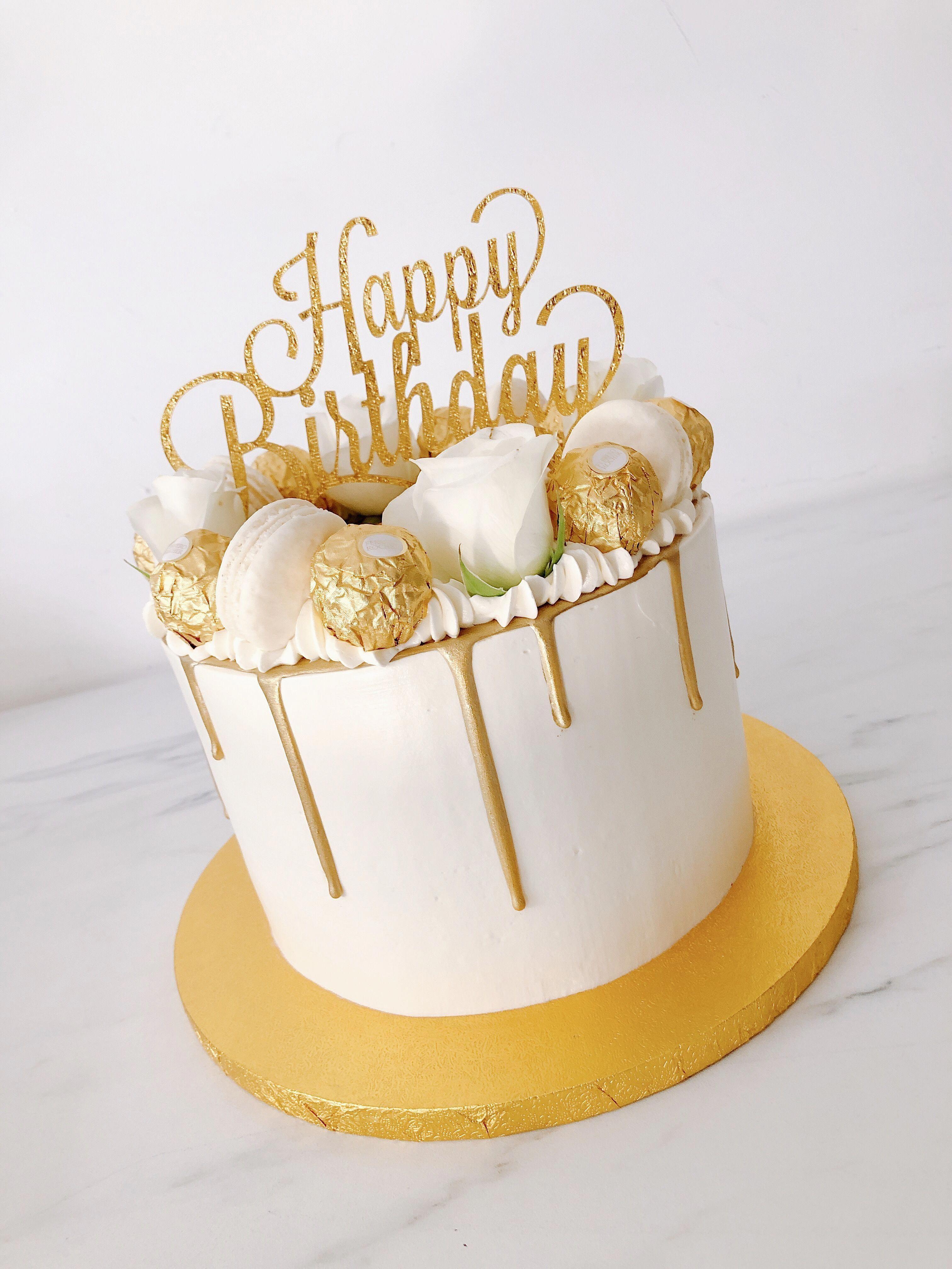 Pin By Amira On Birthday Cake 25th Birthday Cakes Golden Birthday Cakes Simple Birthday Cake