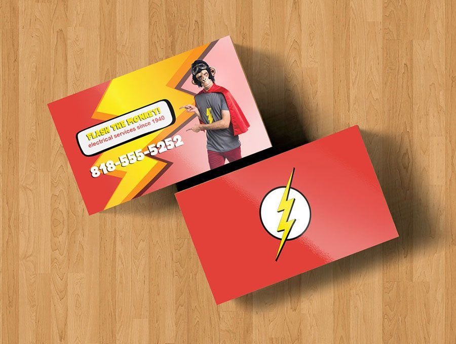 Monkey the flash superhero business card mockup | Graphic Design and ...