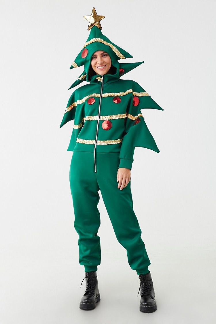 Christmas Tree Jacket Forever 21 Christmas Tree Costume Christmas Party Outfit Jumpsuit Fashion