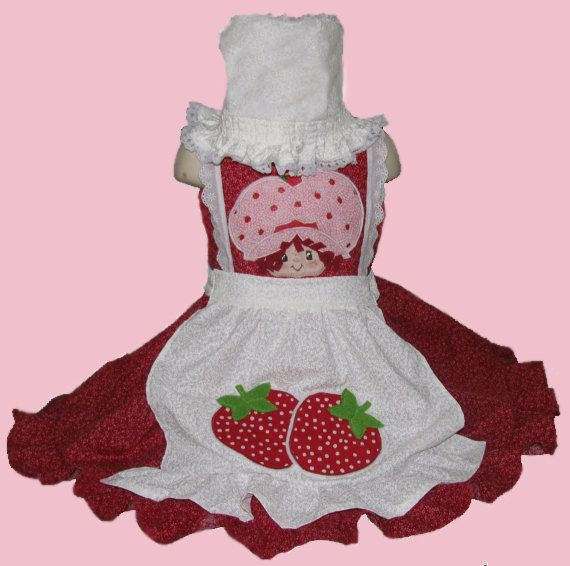 Strawberry dress & Strawberry Dress 3 pieces by Yetzaly on Etsy $50.00 | Strawberry ...