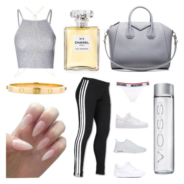 """Untitled #1"" by allyssafaaith ❤ liked on Polyvore featuring adidas, Glamorous, Chanel, Cartier, River Island, Moschino, NIKE and Givenchy"