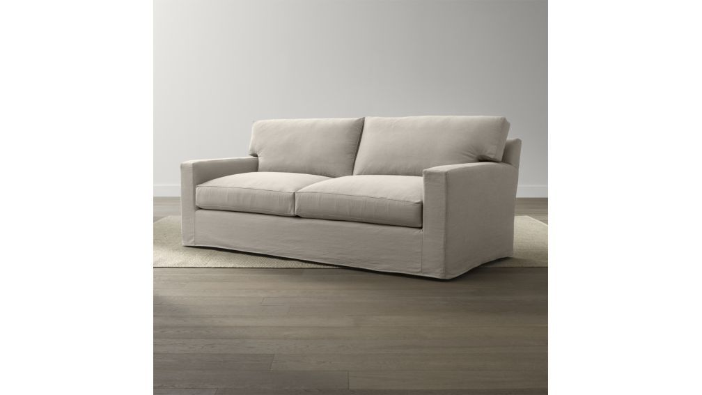 Axis Ii Slipcovered 2 Seat Queen Sleeper Sofa Crate And