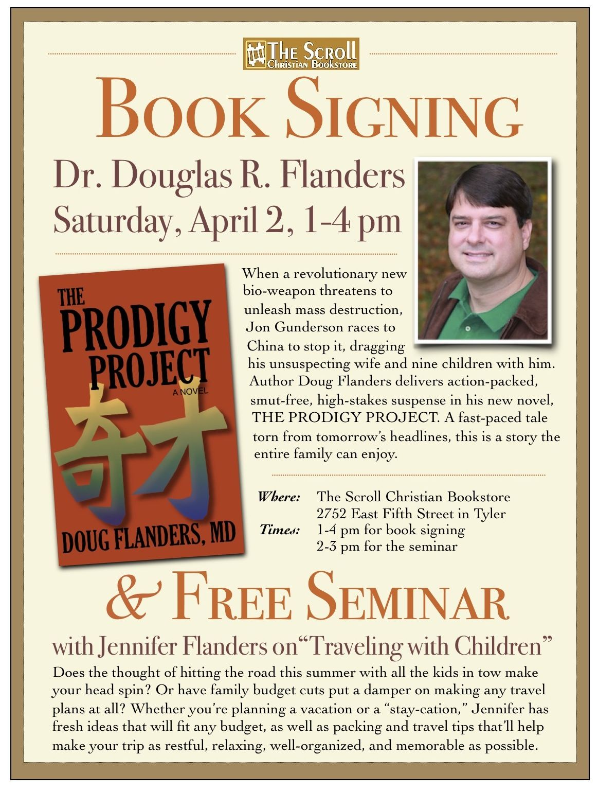 Book Signing/ Free Seminar at The Scroll | Free seminar ...