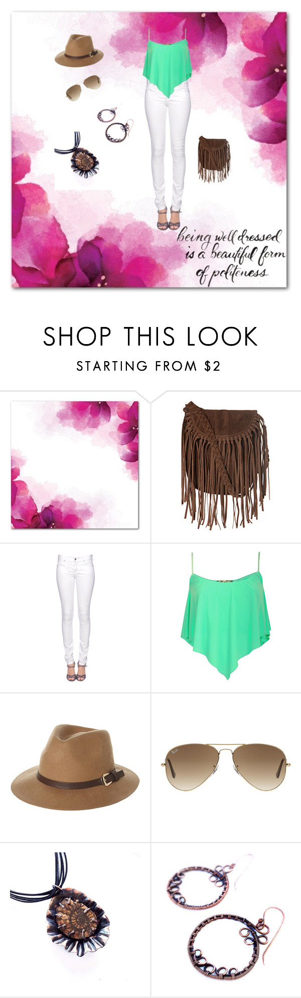 """""""Sassy"""" by desertshines ❤ liked on Polyvore featuring Topshop, Citizens of Humanity, Rusty, Ray-Ban and goteamflourish"""