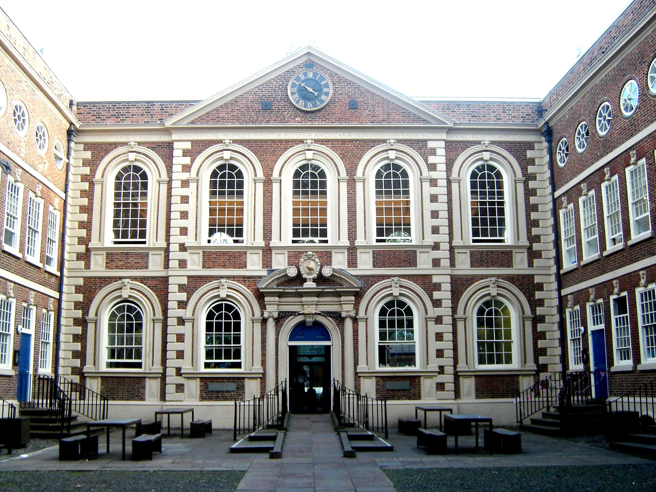 Queen Anne style architecture , Bluecoat Chambers in Liverpool, of in a  version of the original Queen Anne styl