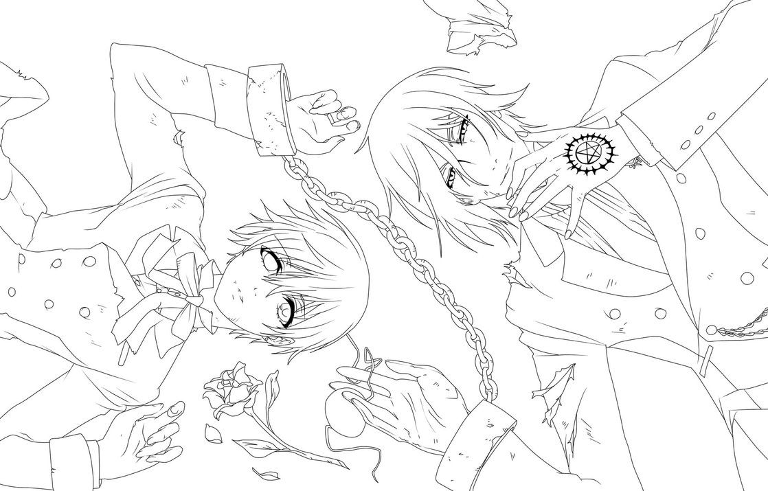 Black Butler Coloring Pages hiccelsa Pinterest