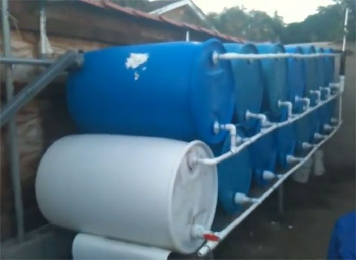 simple barrel system collects 825 gallons of water homestead u0026 survival - Water Storage Barrels