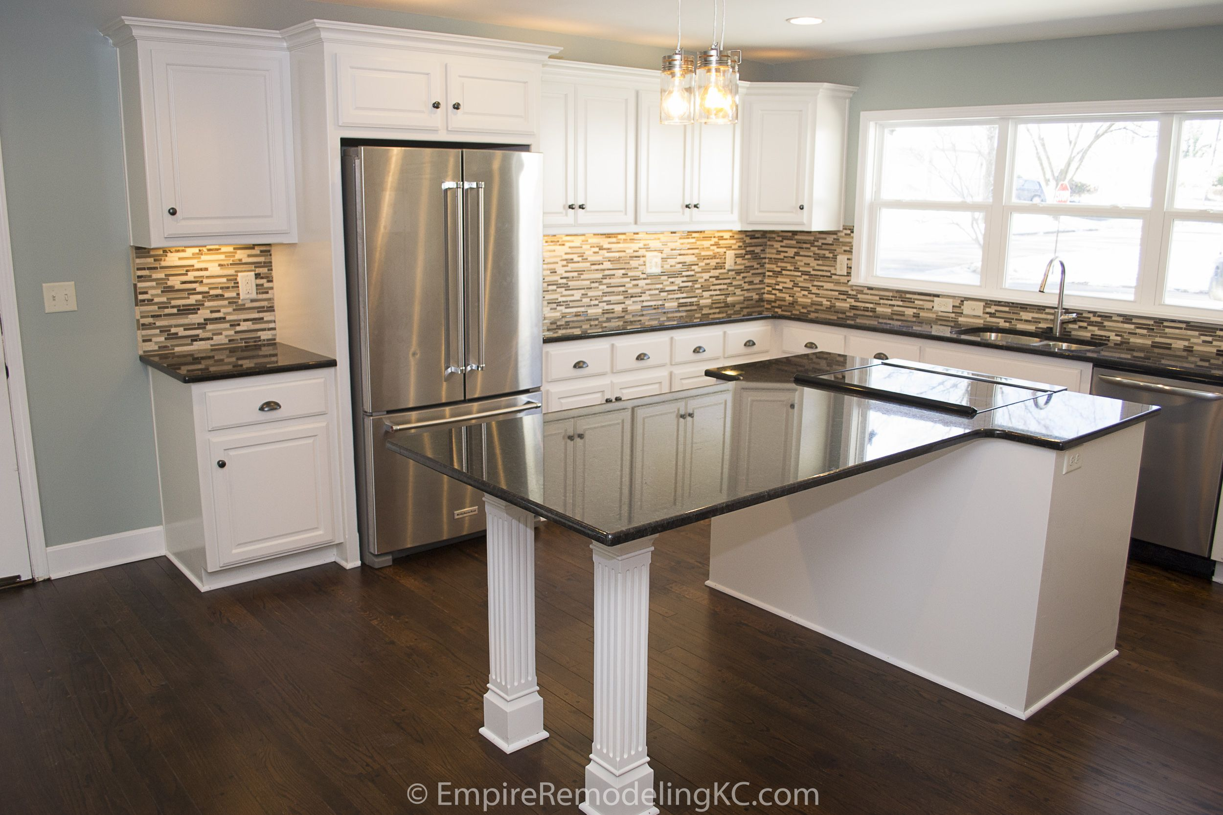 Extended Island Granite Countertop Granite Marble Kitchendesign