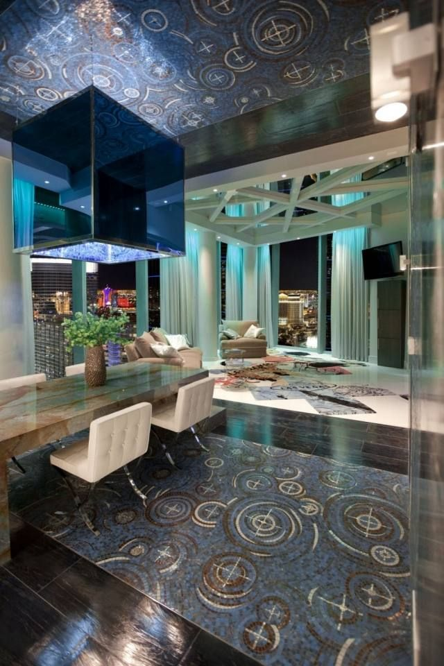 boden deckengestaltung mosaik kunst moderne einrichtung dekorativ ...