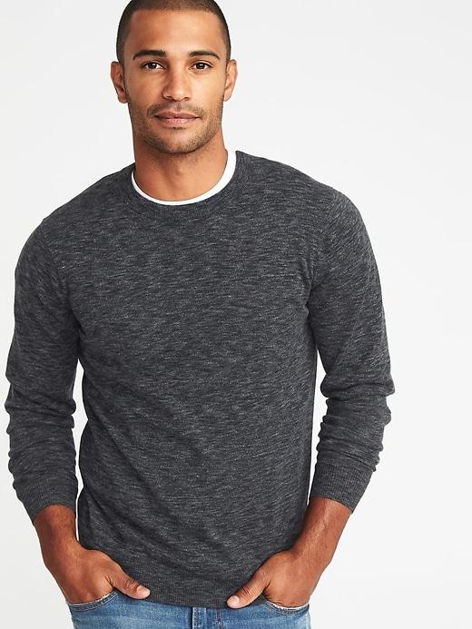 Heathered Crew-Neck Sweater for Men