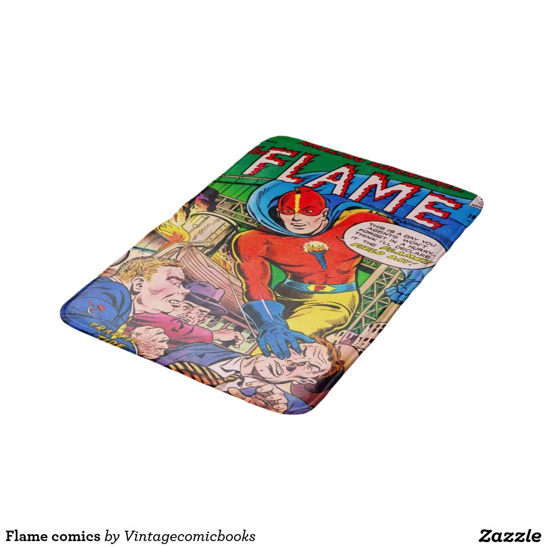 Flame Comics Bathroom Mat