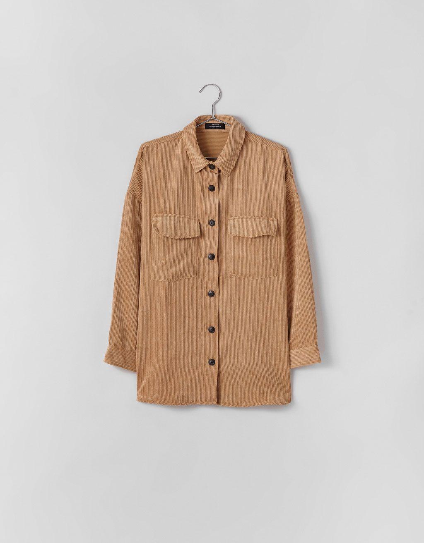 2bffeb67e1 Oversized corduroy shirt Corduroy