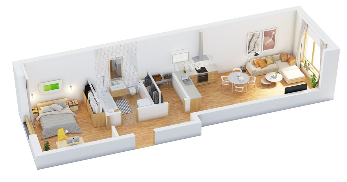 Small Apartment Interior Design Plans when an apartment is long like this one it's important to make it