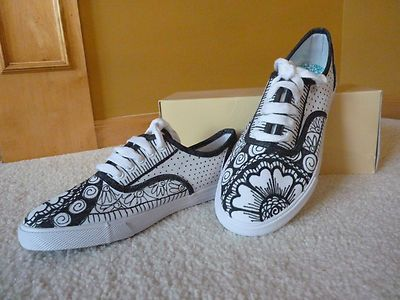 custom design tennis canvas casual shoes black white size