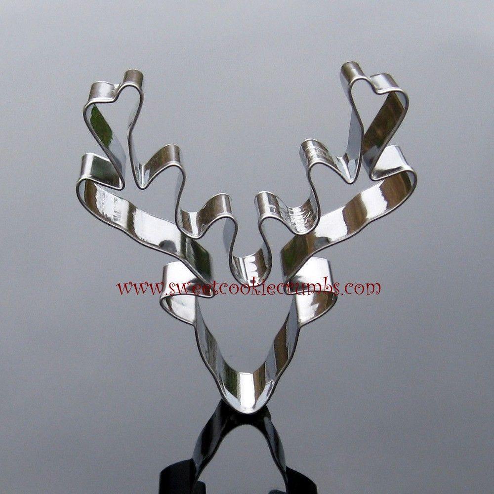 Deer Head Cookie Cutter - Stainless Steel